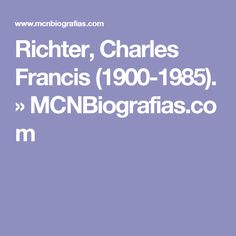 Charles Francis Richter