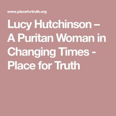 Lucy Hutchinson