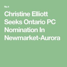 Christine Elliott
